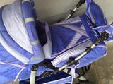 """Детская коляска """"таурос2""""синяя трансформер (новая)"""